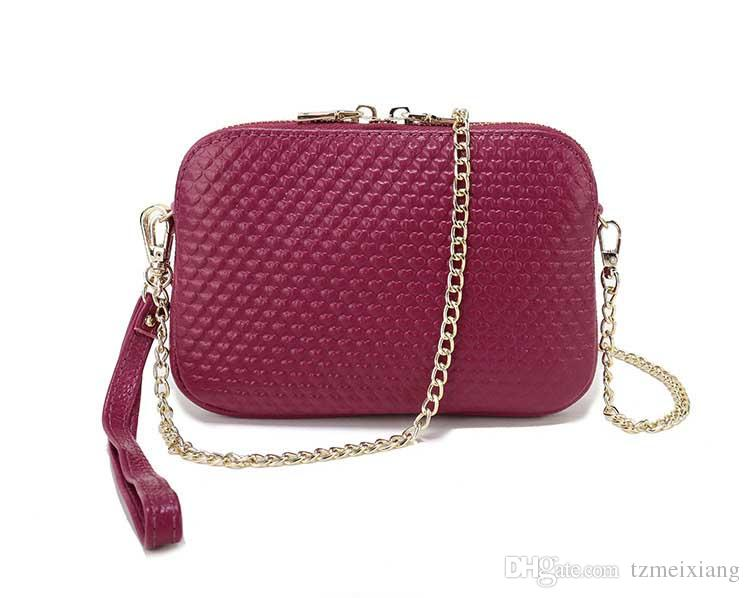 Handkerchief purse new leather hand with small square package fashion trend shoulder bag header layer leather