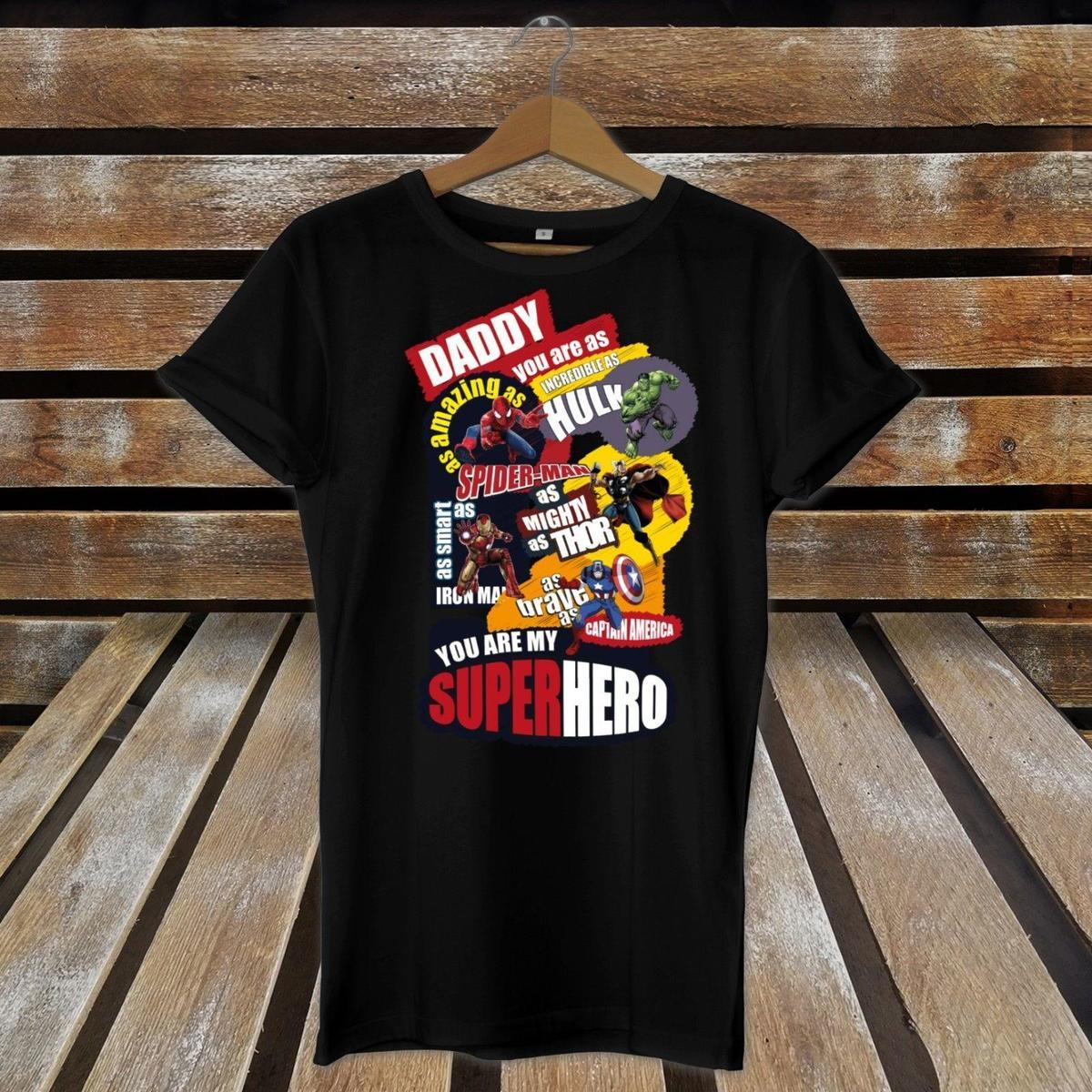 86582b3e Daddy You Are MY Favourite Superhero COMIC Book Printed Fathers Day T Shirt  Gift Fun T Shirts Online Tshirt And Shirt From Linnan09, $14.67| DHgate.Com