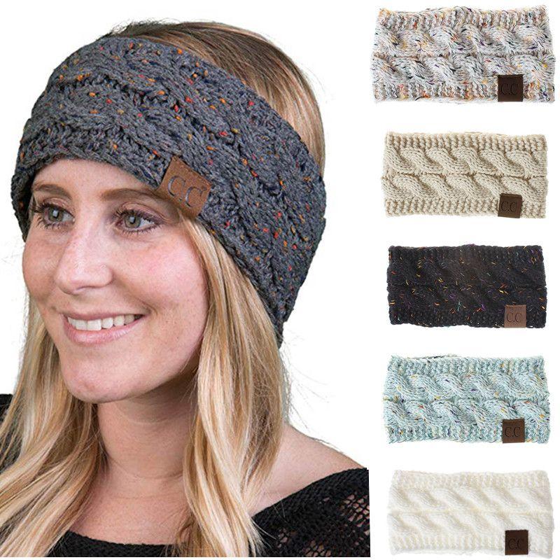 Großhandel Cc Gestrickte Stirnbänder 21 Farben Häkeln Twist Headwear
