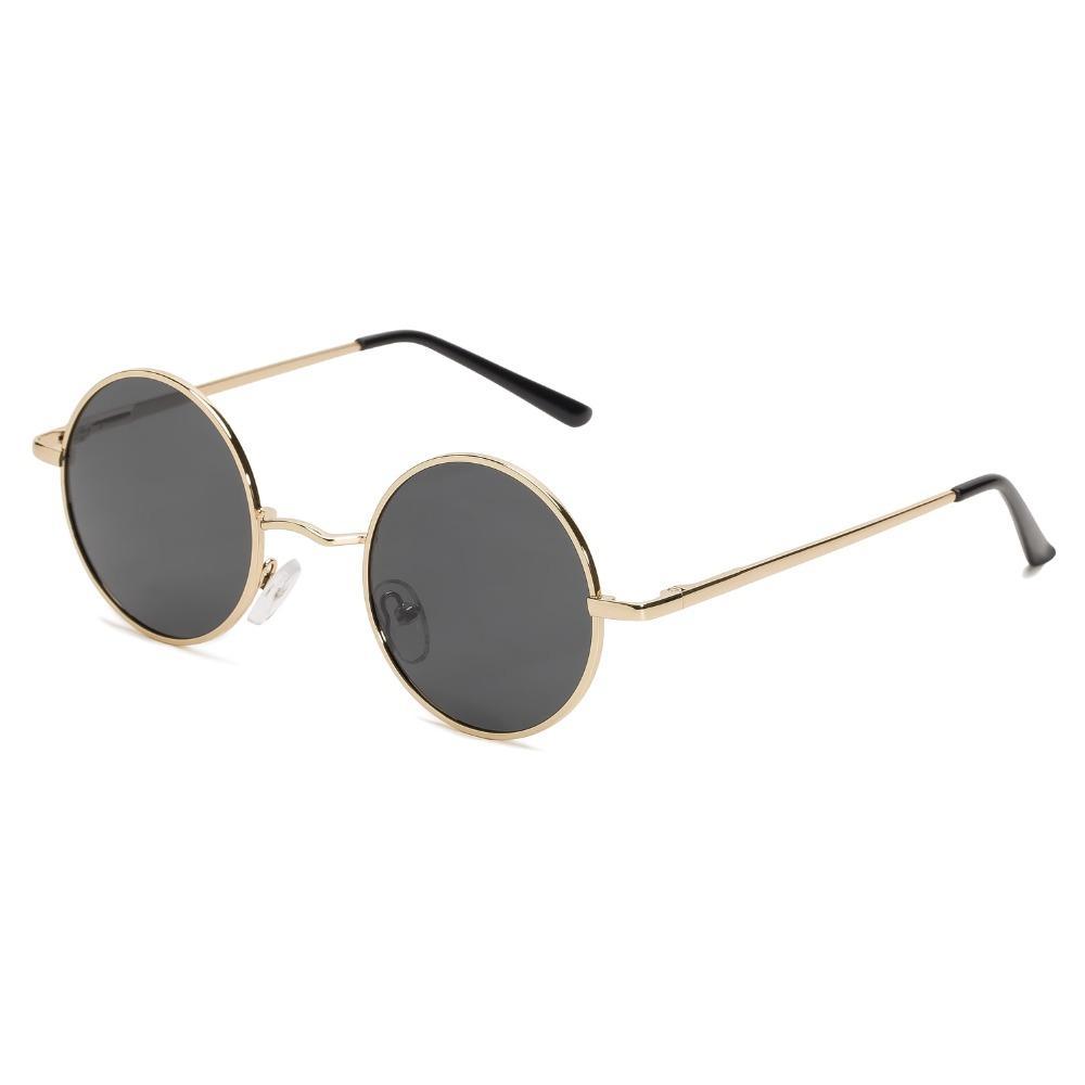 e87d8a5fa0 Compre Diseñador De La Marca Gafas De Sol Redondas Polarizadas Clásico  Pequeño Vintage Retro John Lennon Gafas Mujeres Metal Gafas A $22.38 Del  Juaner ...
