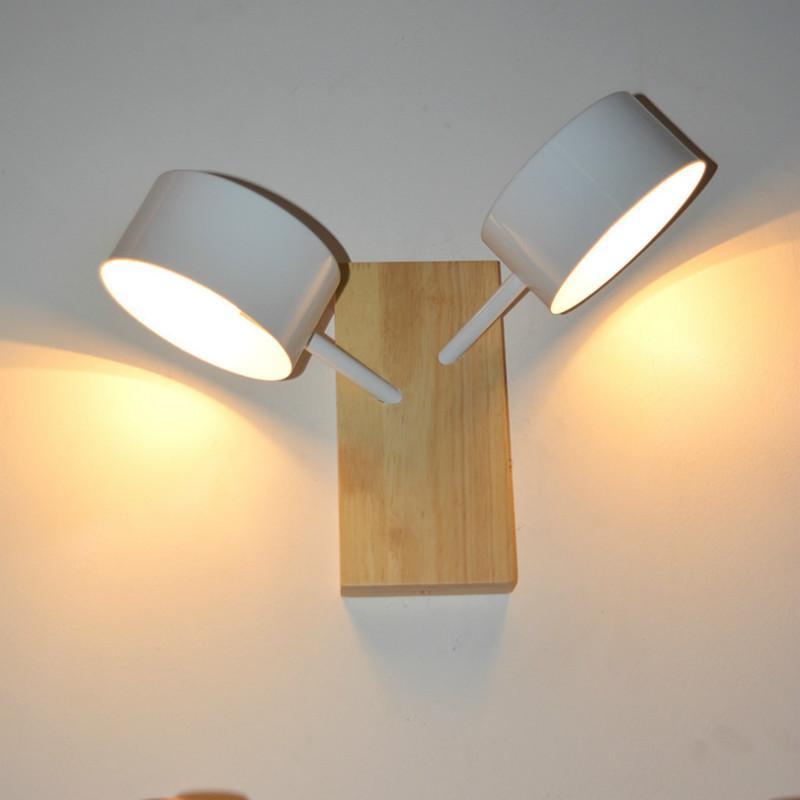 Großhandel Einfache Rushed Licht Holz Wandleuchte Schlafzimmer Lampe ...