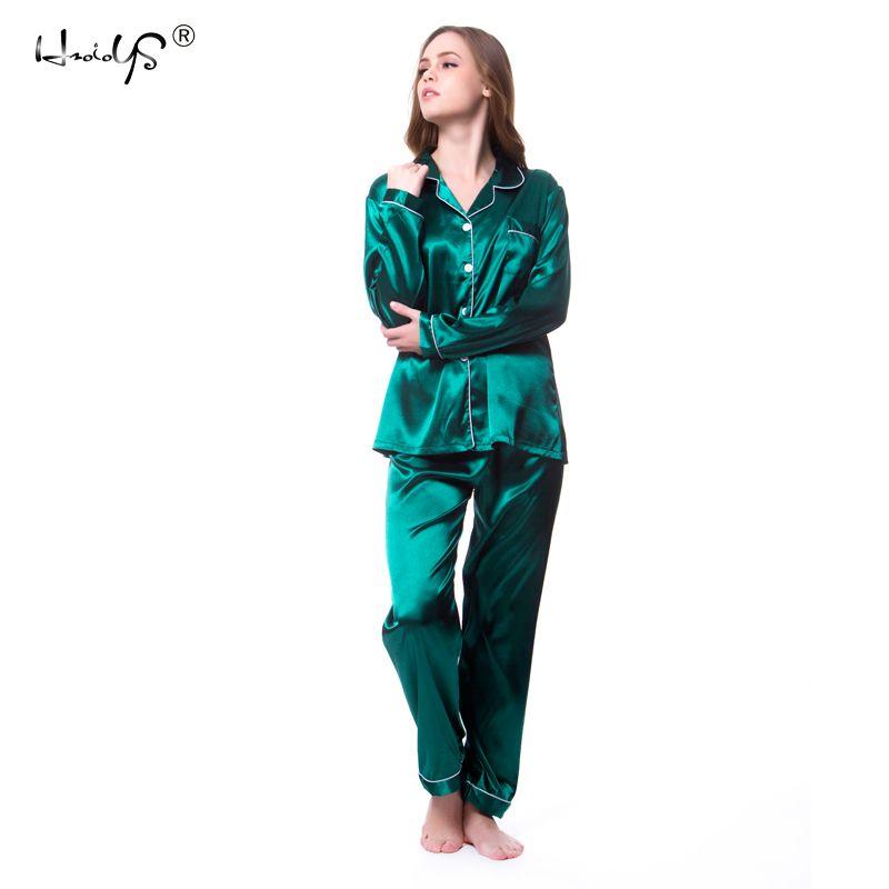 0c970554b7ec8 2019 Plus Size M 5XL Women Silk Satin Pajamas Pyjamas Set Sleepwear Long  Sleeve Pyjamas   Lace Cute Cami Top And Shorts Pijama From Dolylove