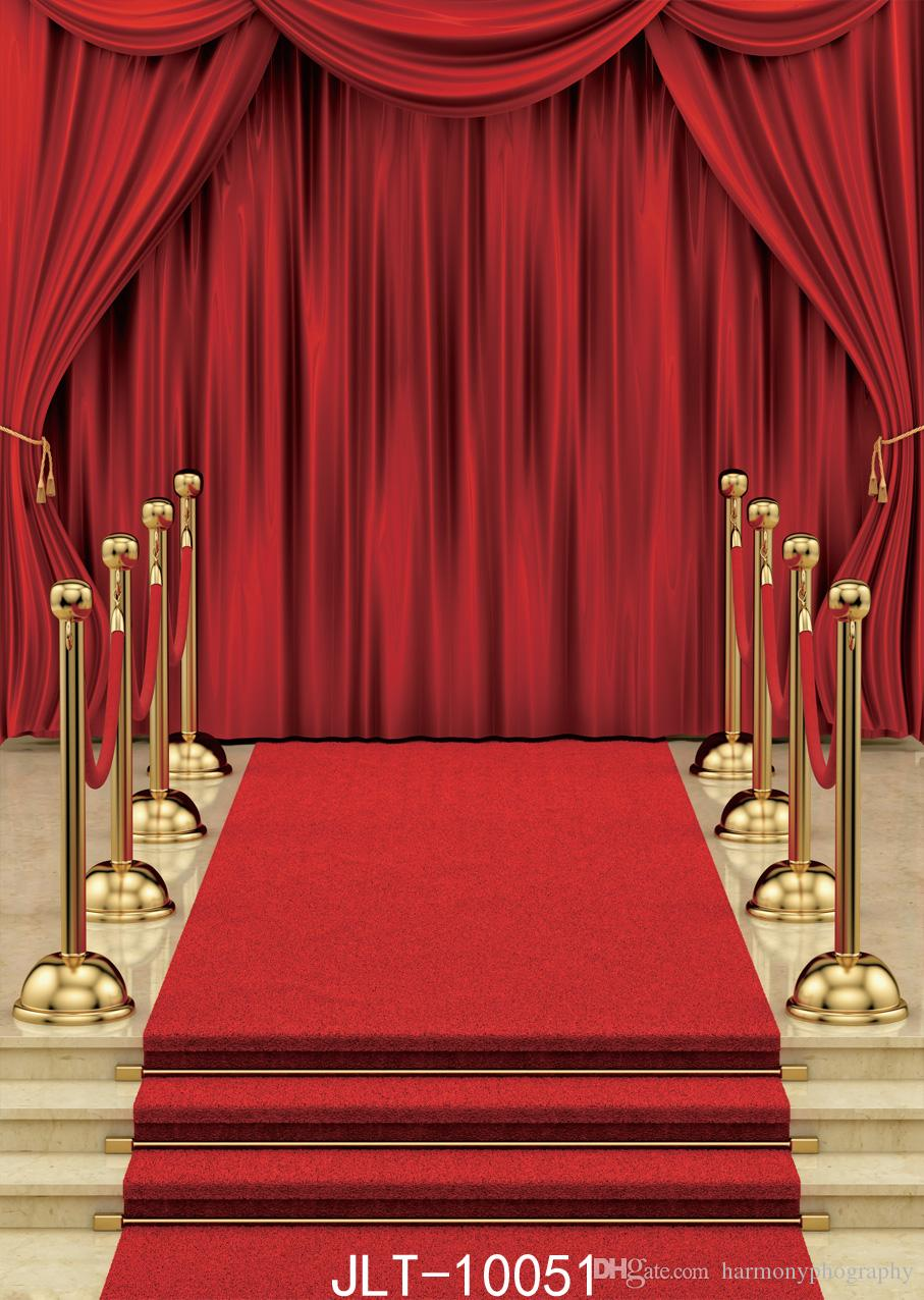 festive red backdrop celebration award ceremony photography backdrops step solid vinyl background for photo studio theater stage