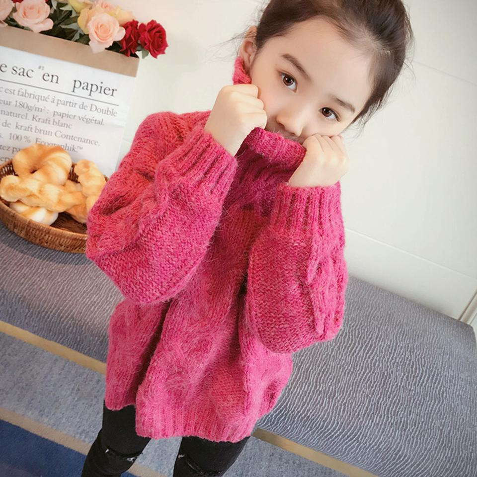 6a894ba67 2018 Autumn Winter Cotton Turtleneck Sweater Children Clothing Girls ...