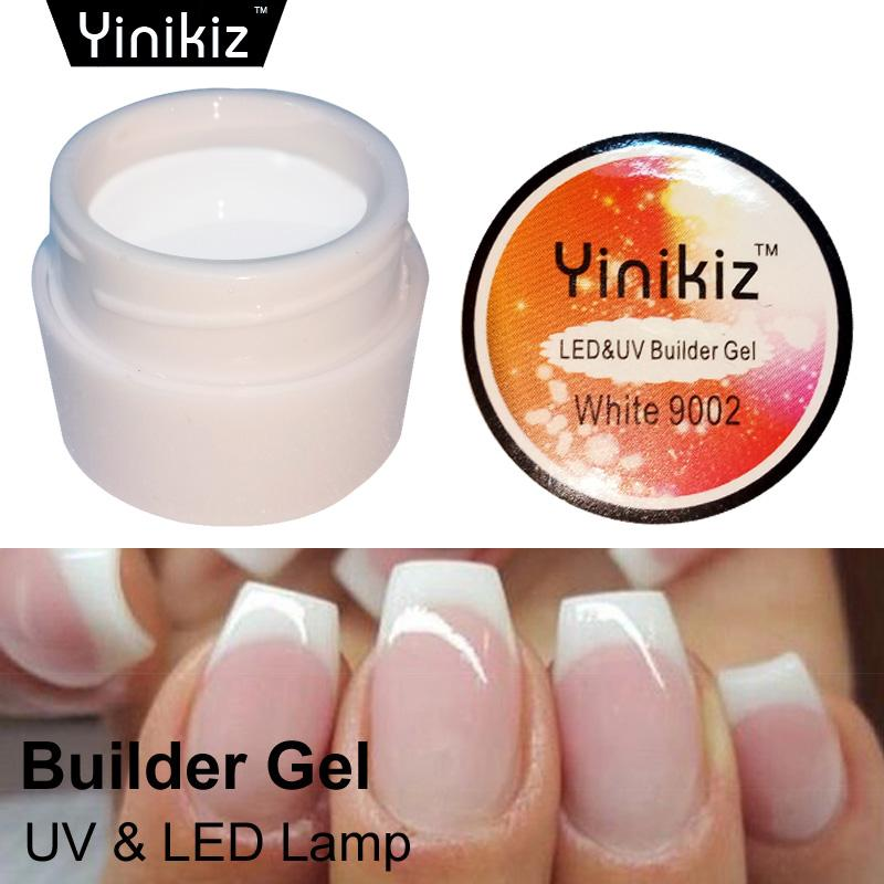 Yinikiz Pink White Clear Gel Permanent Uv Led Builder Gel Extend ...