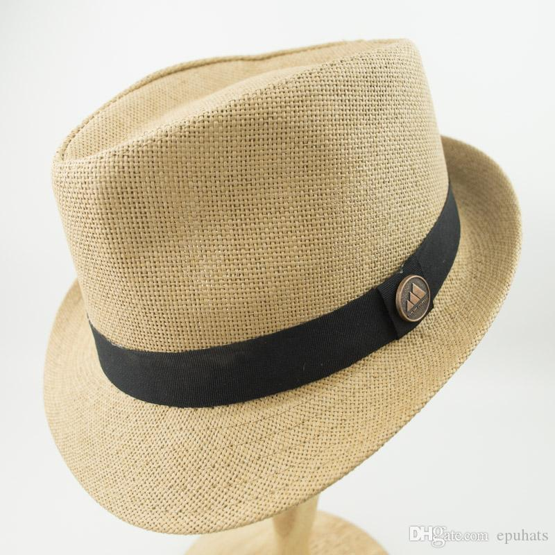 55d1d652be9 Double Layer Paper Straw Hats Men And Womens White Stingy Brim Best ...