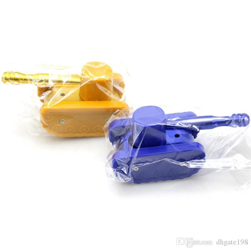 gros pas cher protable Jaune / Bleu en plastique style style tabac pipe pipe nouvelle fumée sèche her pipe à main