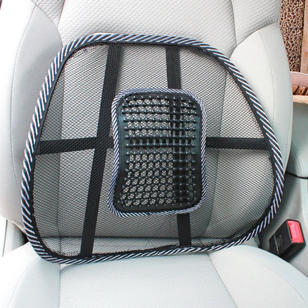 Car Office Home Seat Chair Back Massage Lumbar Cushion Waist Support Mesh Ventilate Pad Styling Canada 2018 From Miniputao Cad 3025