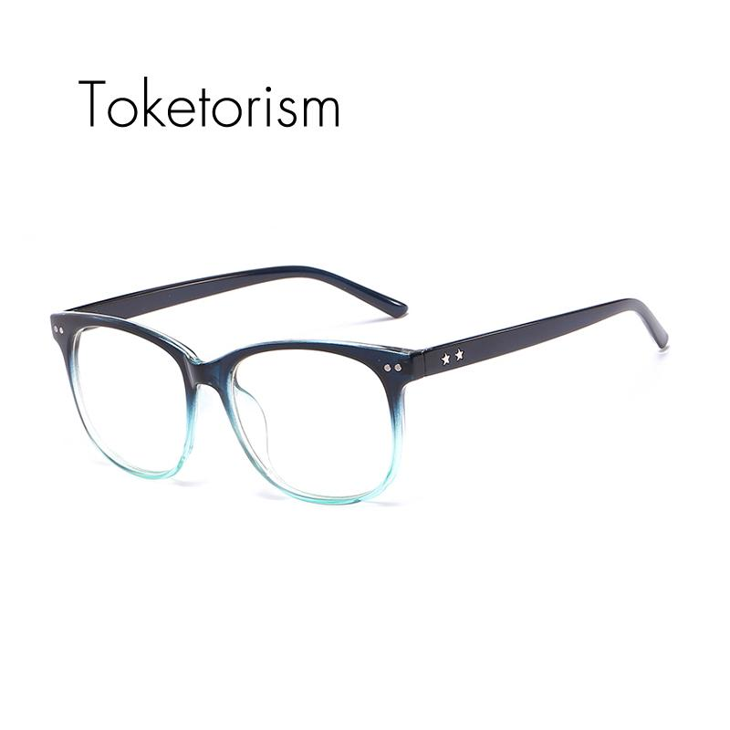 2018 Toketorism Stylish Eyeglass Frames Gradient Glasses Fake Women ...