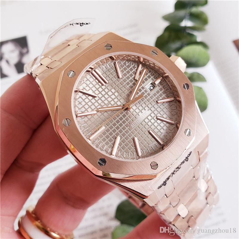 d909dba6b Rose Gold AAA Luxury Watch For Men Women Fashion Stainless Steel Strap  Automatic Couple Watches Men Swiss Brand Wristwatch With Original Box Cheap  Smart ...