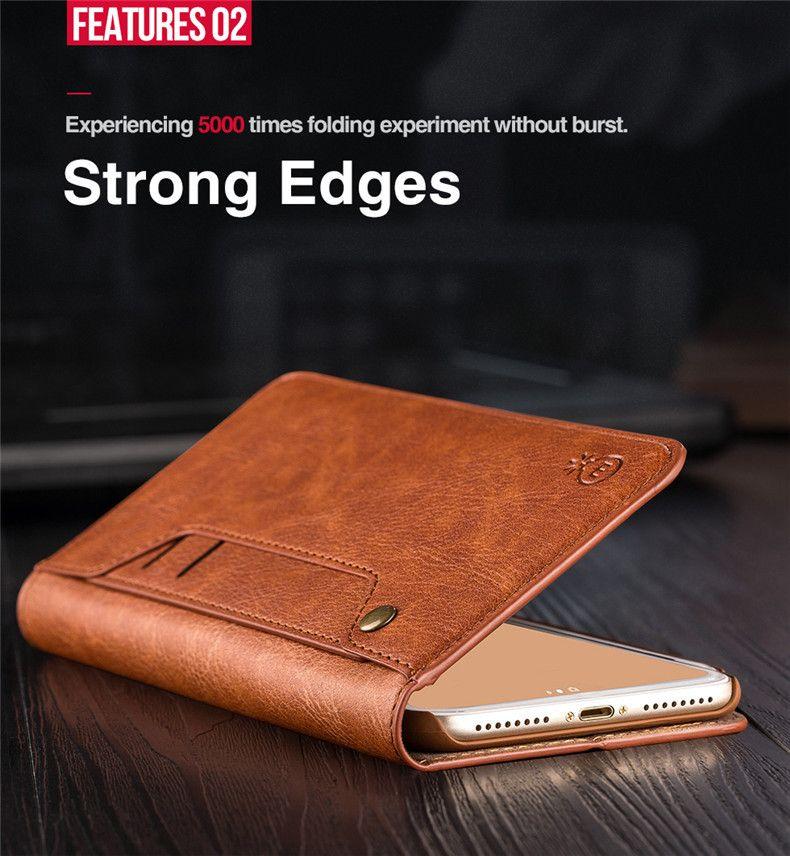 Luxus Retro Leder Handy Fall Geldbörsen für Apple Iphone 6 6 s 7 8 Plus X Samsung S8 Plus Note8 Abdeckung IphoneX mit Kartenhalter Zubehör