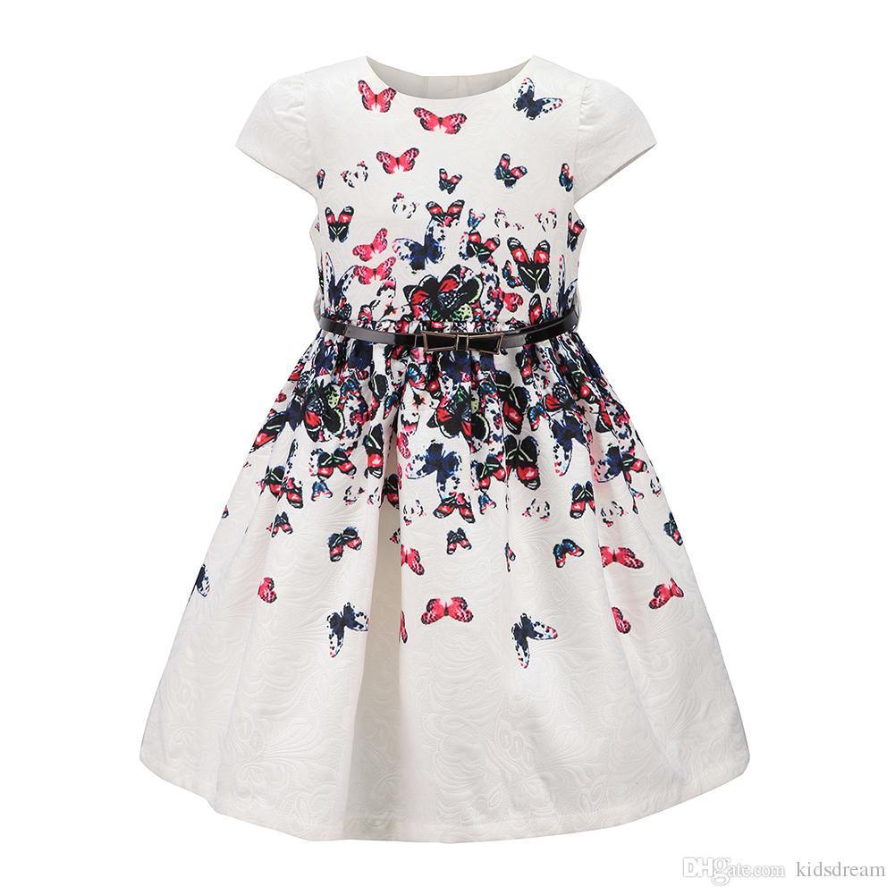 Großhandel Tween Mädchen Floral Party Kleid Größe 3 ~ 12 Prinzessin ...