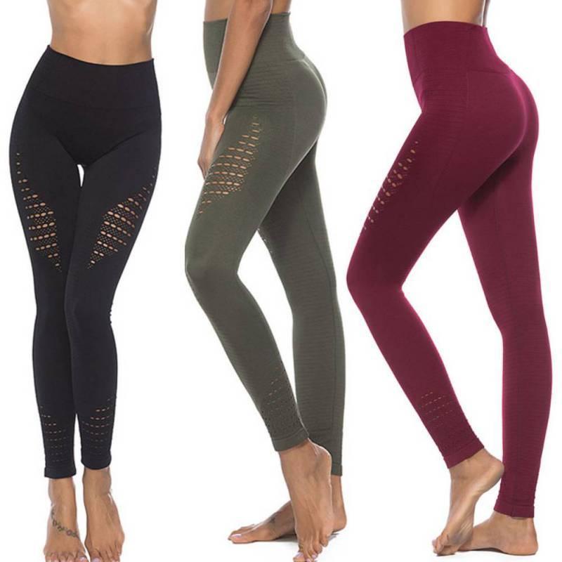 f677183f8ce1 Acquista Pantaloni Da Yoga Energetici Da Donna Pantaloni Da Controllo Tummy  Senza Cuciture Super Elasticizzati Da Palestra Collant A Vita Alta Leggings  ...