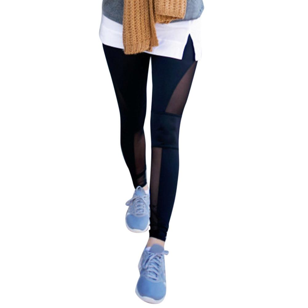 12b2e7e6e34f2 Acheter Coutures À Mailles Pantalon Sport Femme À Séchage Rapide Leggings  Sport Taille Basse Pantalones Yoga Vetement Femme Fitness   YL De  46.62 Du  Hupiju ...