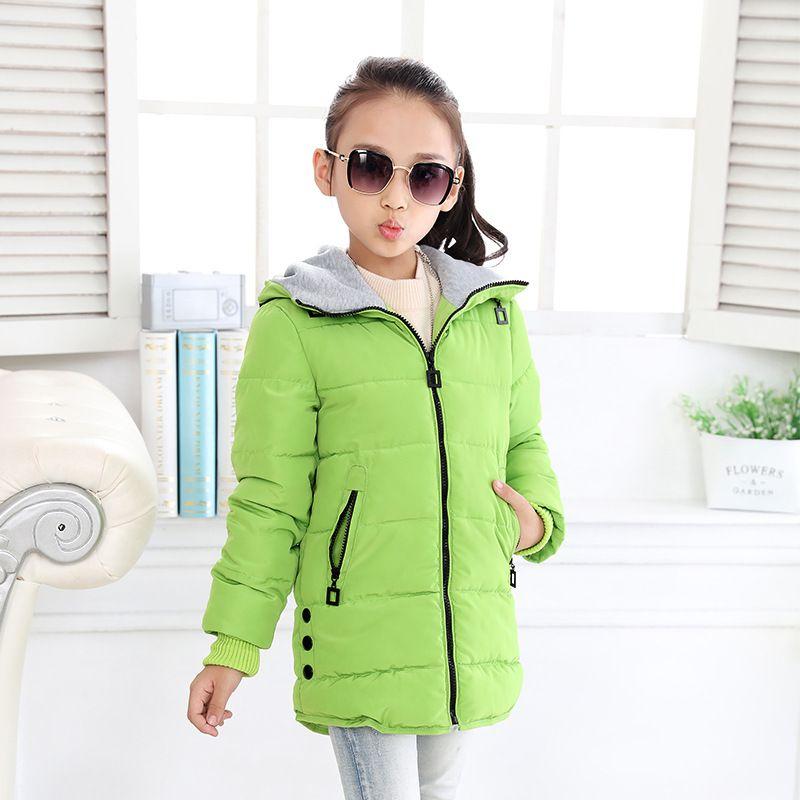 Girls Winter Coat Warm Jacket for Girls Teen Collar Hooded Baby Outwear Long Children Winter Jacket Girl Ski Suit Kids Parka