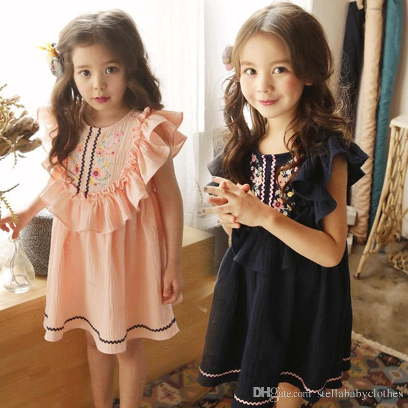 0825305d3e60 2019 Western Girls Boutique Clothing Ruffle Kids Clothes Flower Print  Little Girls Outfit Fashion Kids Girls Dresses From Stellababyclothes, $8.3  | DHgate.