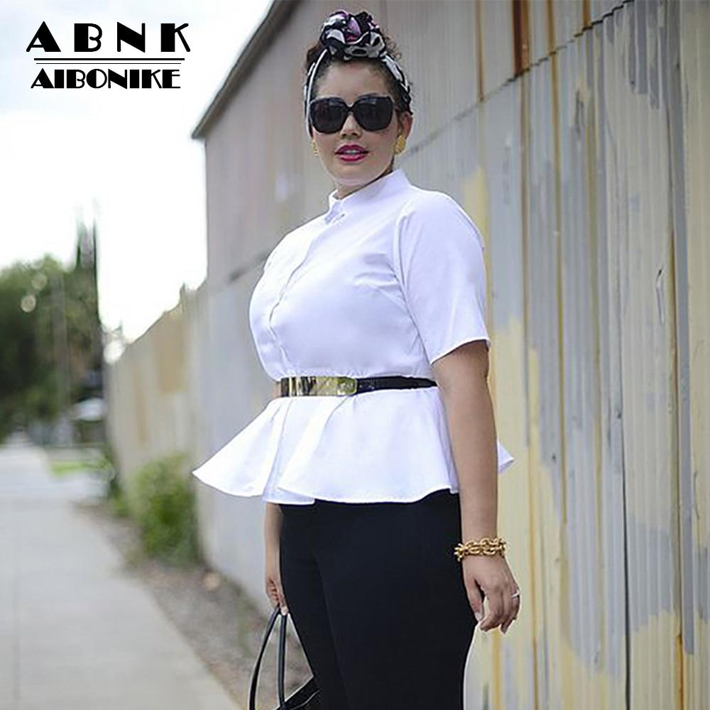 aee269c1ed386 2019 AIBONIKE Plus Size Womens Tops And Blouses Plus Size Women Clothing  4xl 5Xl Blouses 2018 Fashion Women Blouse And Shirt Autumn From Cashmere52