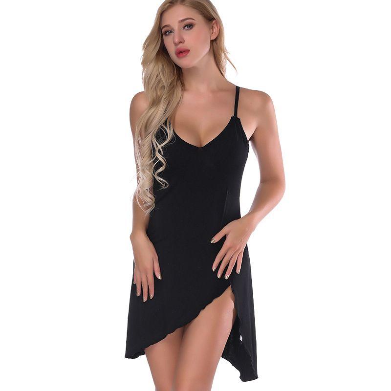 b11b304a1f 2019 Lady Cotton Nightgown Women Nightwear Night Dress Female Sleeveless  Nighty Sleepwear Sleep Dress Home Clothes For Women From Westlakestore