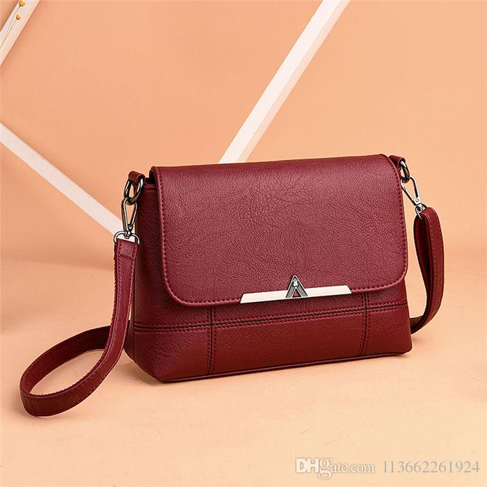2018 Casual Soft Ladies Leather Shoulder Bags Designer Messenger Womens  Crossbody Bags Cheap 2080 Bags Store Black Handbag Purses Wholesale From ... 312aa6231885d