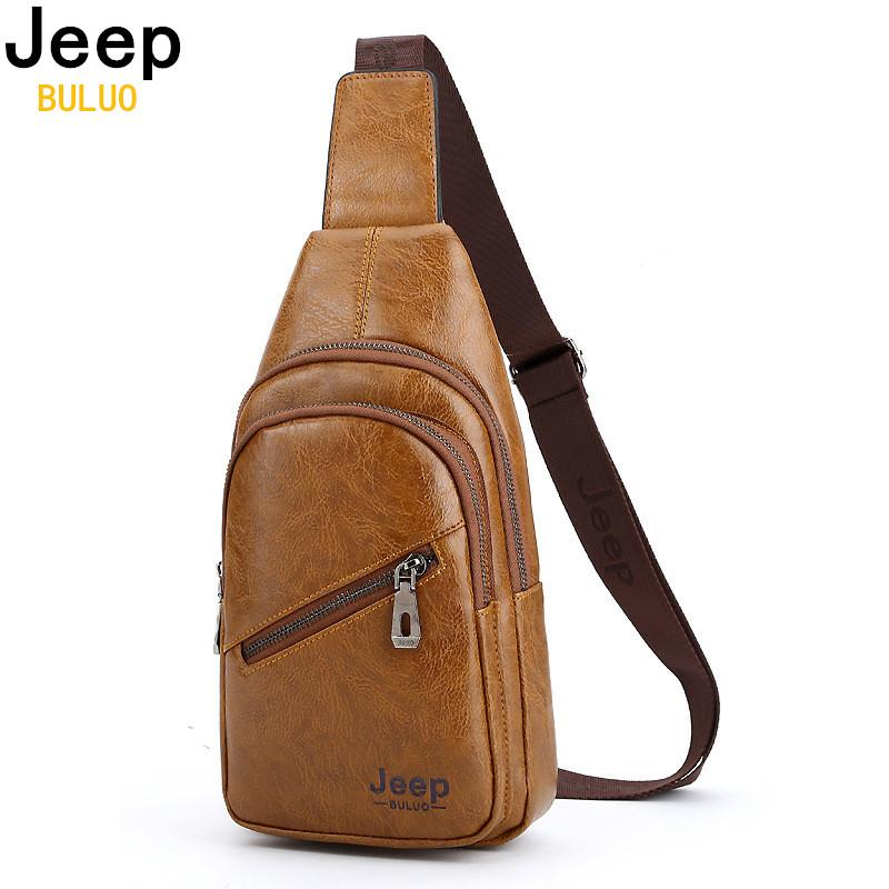 d286166f6 BULUO Corss Body Sling Bags For Men Leather College Chest Bag Summer Travel  Shoulder Bags Male Drop Shipping Black Leather Handbags Small Purses From  ...