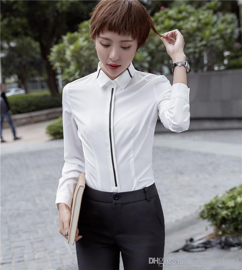 White Chiffon Blouse 2018 Women Shirt Fashion Casual Plus Size Blouses Long Sleeve Shirts Ladies Office Shirts Women Tops Blusas