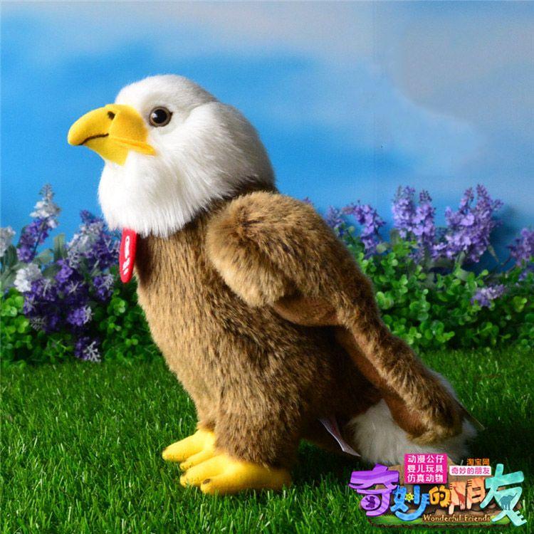 High Quality 25cm Simulation Bald Eagle Plush Toys Stuffed Animal