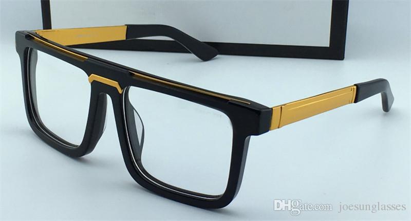 Classic Vintage Square Plate Frame Men Designer Optical Glasses 0078 ...