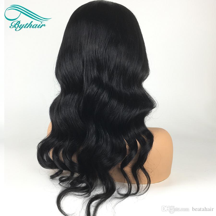 Natürliche Welle Brasilianisches Reines Haar Lace Front Perücken mit Pony Kurzes Bob Wavy Human Hair Volle Spitze Menschenhaarperücken Für Schwarze Frauen