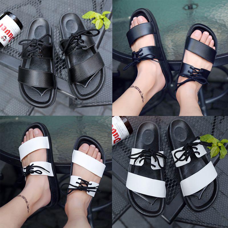 23543ad497fbb2 Summer Men Women Platform Flat Slippers Shoes Men Platform Sandalias Shoes  Ladies White Black Slipperssandals Shoes Lace-up Flip Flops Designer Flip  Flops ...