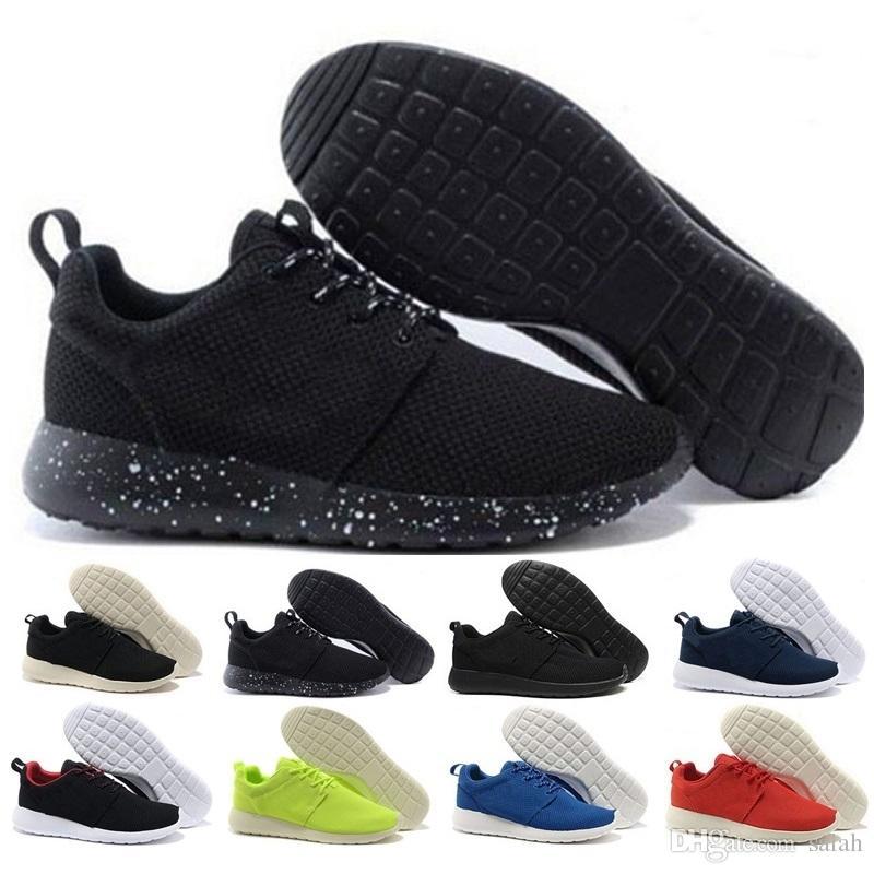 best sneakers 6f2ed b84bd Acquista Roshe Run 2018 New London Olympic 3.0 Scarpe Da Corsa Uomo Donna  Rosa Grigio Nero Leggero E Traspirante Sport Economici Sconto Sneakers US  5.5 11 A ...