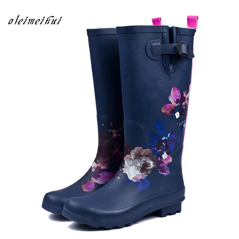 23f1d01c1 Compre Botas De Lluvia Mujeres Pvc Impermeable Zapatos De Agua De Tacón  Alto Botas De Lluvia Altas Tobillo Gummis Mujer Botas De Lluvia De Caucho A   54.78 ...