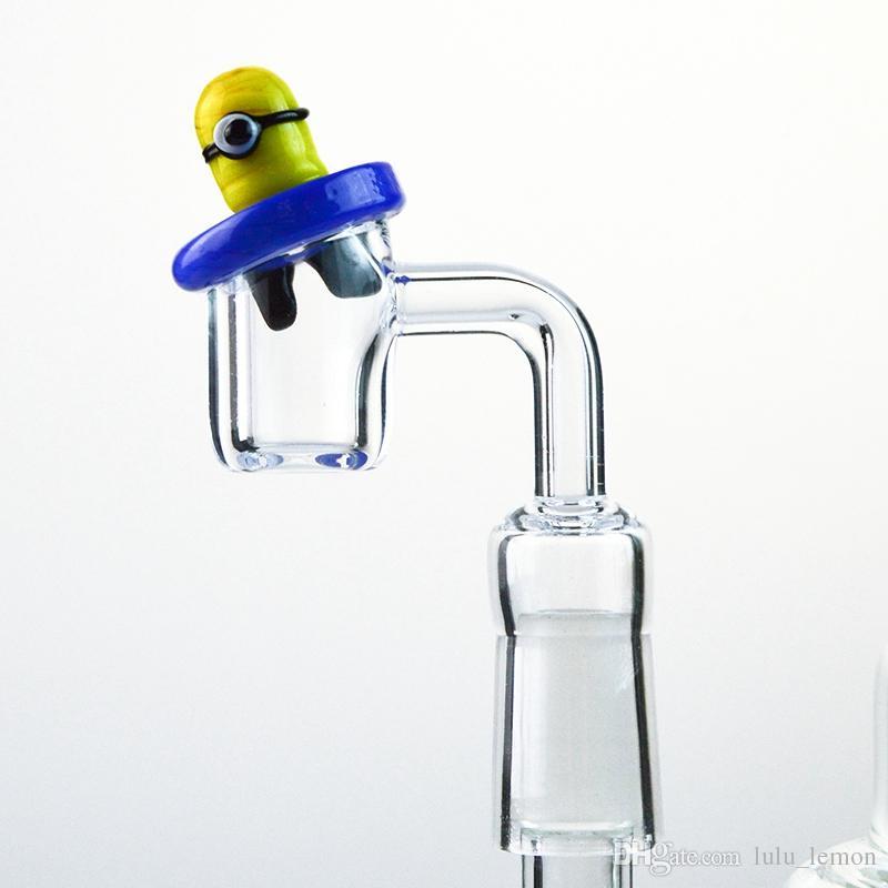 Accessoires Gelb Minions Glass Carb Cap Bong Rauchen für Rohre Banger beste Qualität Gelb Glas Carb Caps DCC02