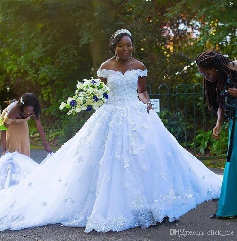 Discount South African Plus Size Wedding Dresses Off The Shoulder A