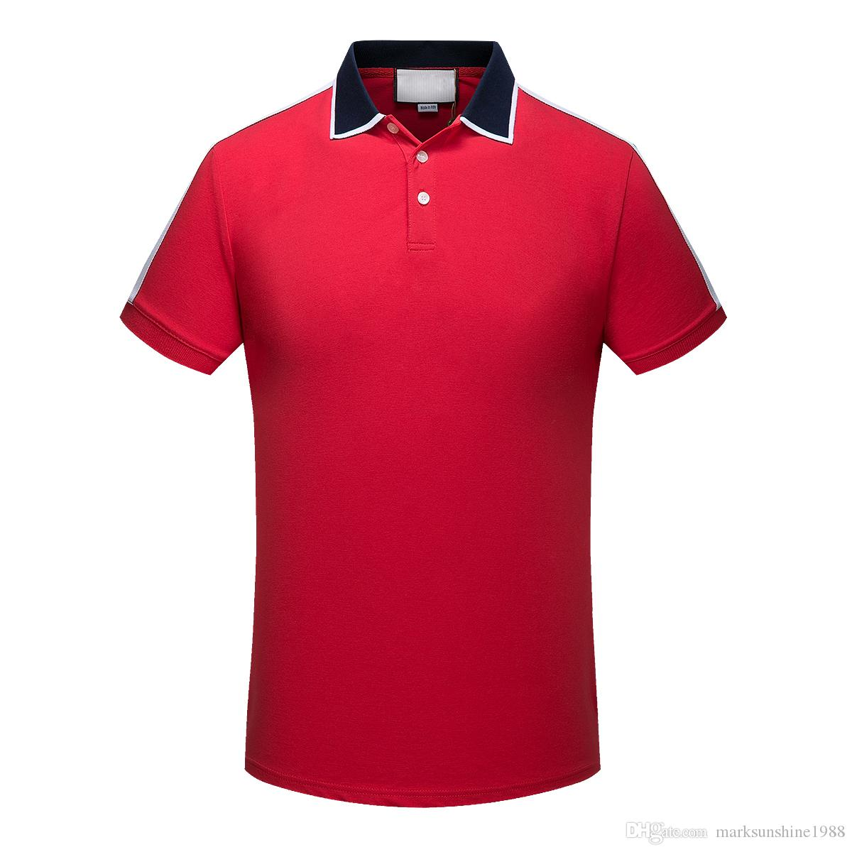 2018 Summer Fashion Polo Shirt Fashion Short Sleeved Animal