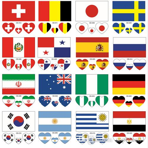 29248a4b1 Wholesale New 32 Countries Tattoo Stickers Waterproof Flag Heart Shaped On  Face Arm Theme Buy Temporary Tattoos Create Your Own Tattoo Free From  Sophine01, ...