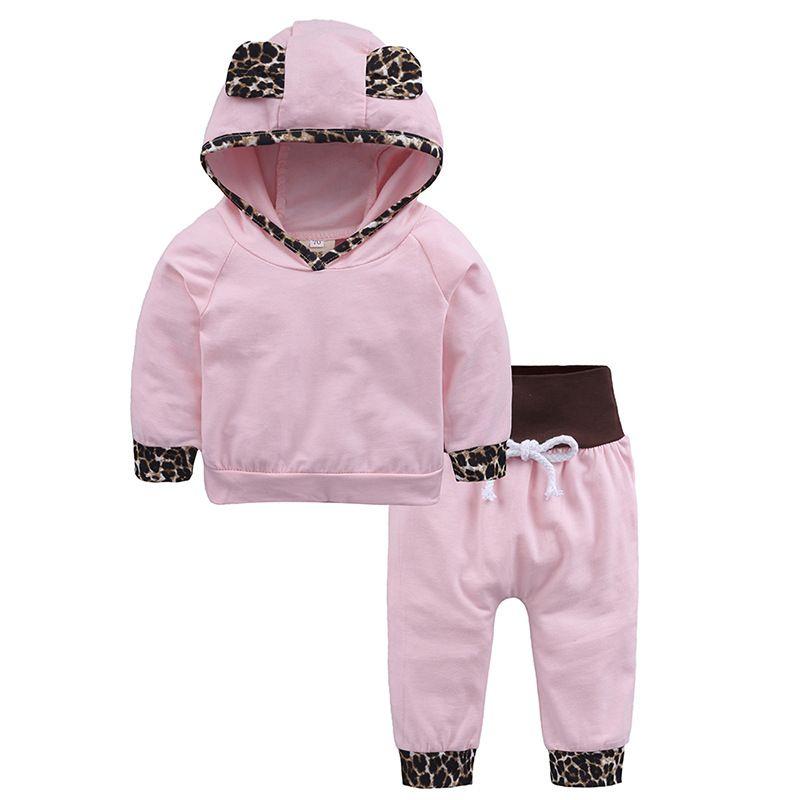 2pc Newborn Baby Boys Letter Prints Sweatshirts Hoodie Tops+Pants Outfits