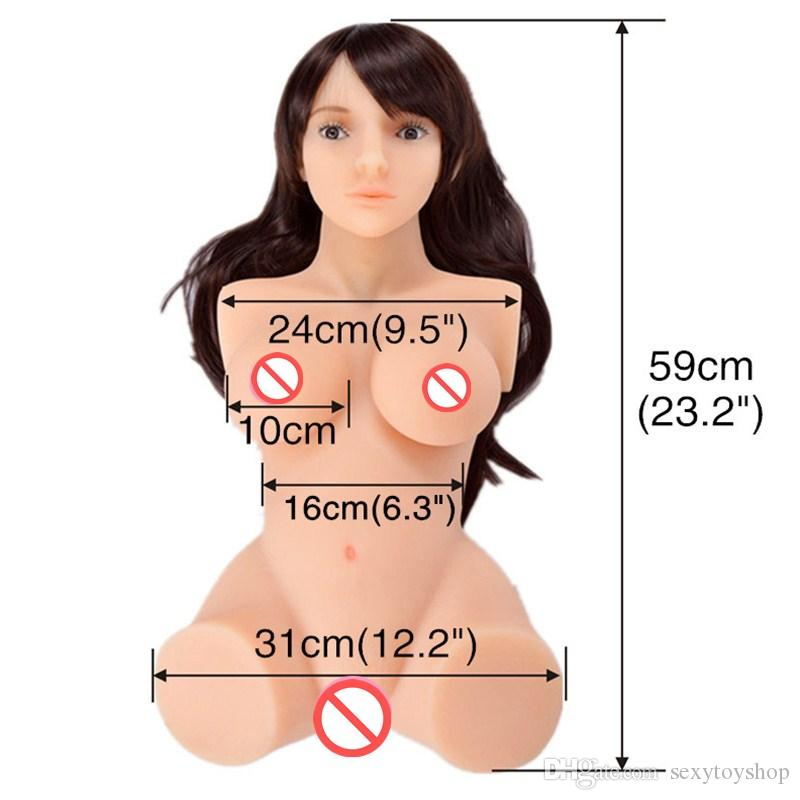 TPE Oral sex Doll torso big ass Japanese silicone Realistic Sex Dolls Robot artifical Vagina Real pussy Adult doll masturbator Toys For Men