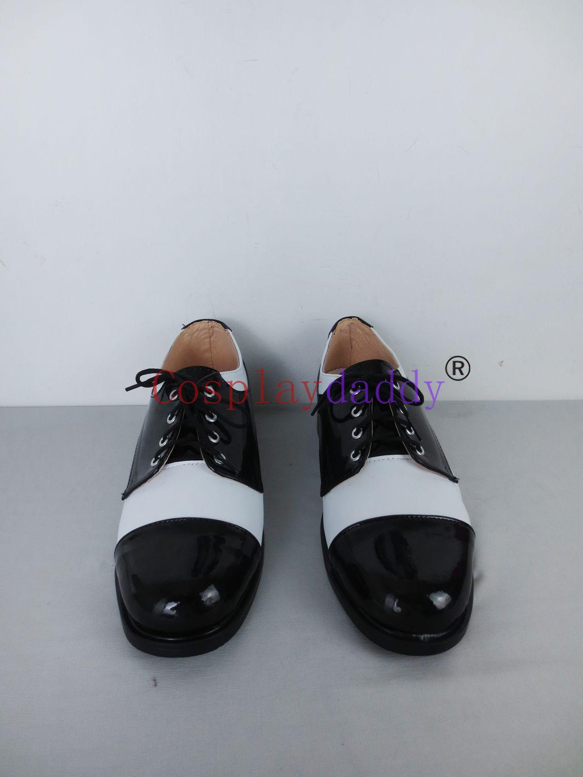 Batman Joker Siyah Beyaz Günlük Cosplay Cadılar Bayramı Ayakkabı Çizme X002