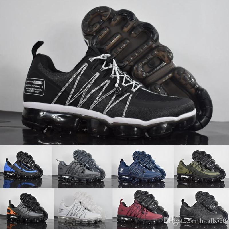 66cd48184f4 2018 New Vapormax Utility Plus 2.0 Men Running Shoes Teal Mens Flair Triple  White Trainers Medium Olive Chaussures Sport Sneakers Size 40 45 Running  Store ...