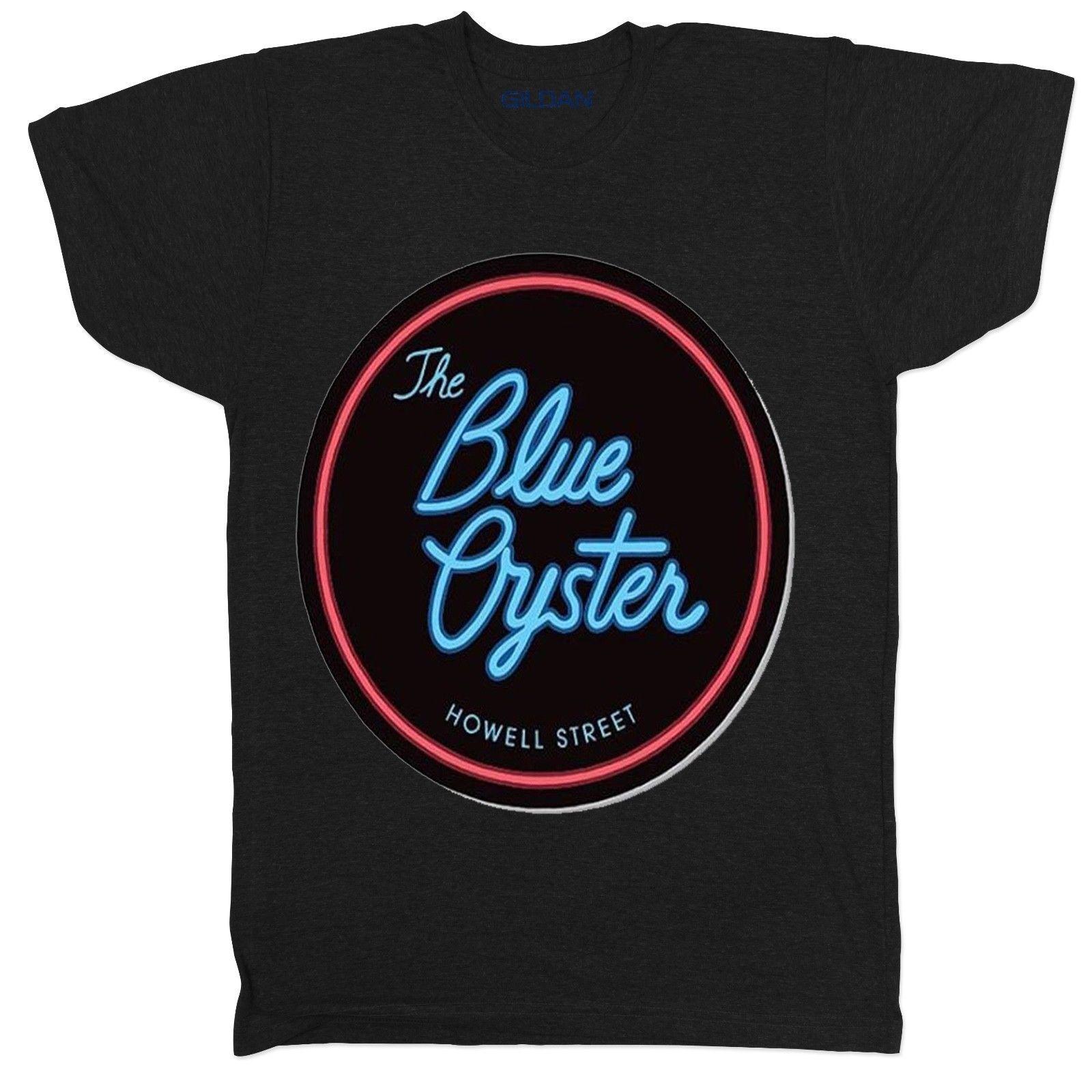 Blue Oyster Bar Police Academy Film Movie Retro Classic Mens T Shirt