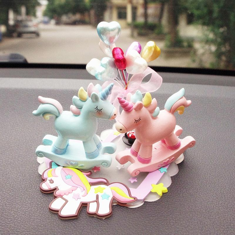Rainbow Unicorn Ornaments Get A Car Shake A Horse Instrument Deck