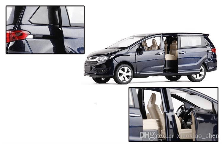 Envío gratis escala 1:32 aleación tire hacia atrás modelo de coche Honda Odyssey coche diecast vehículos de juguete de metal musicalflashing 6 puertas abiertas suv