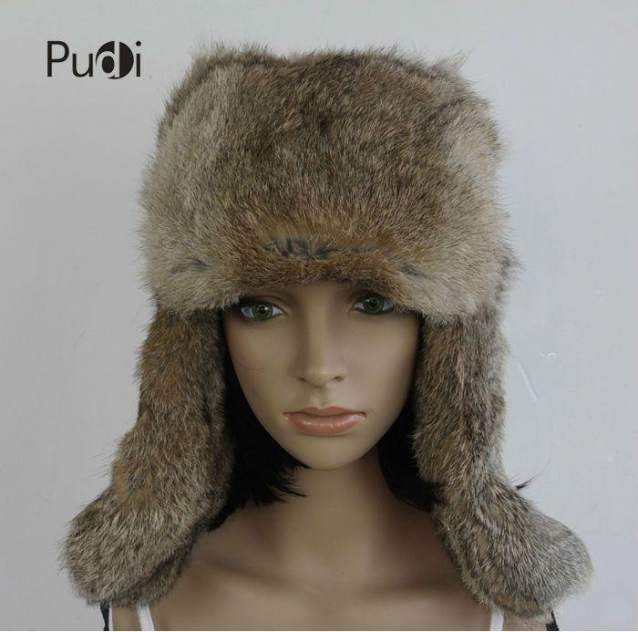 HR007 Real Rabbit Bomber Trapper Hat Aviator Hat Helmet Cap Hat Genuine  Rabbit Fur Cap Winter Hats For Women Canada 2019 From Pudi 4c8ffd06ab22