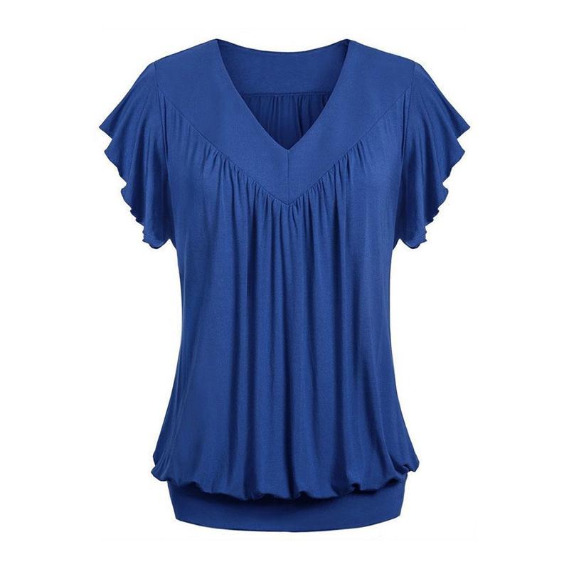 9b57b5243f2 5XL Oversized T Shirt Female V Neck Plus Size Short Sleeve Loose T Shirts  Women Casual Tops Ladies Elegant Tee Shirts Shirt Custom T Shirts From  Taigao