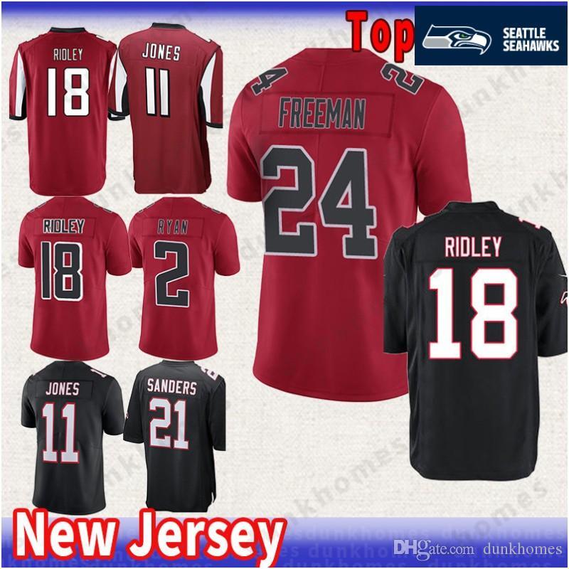 Atlanta Falcons 2 Matt Ryan 11 Julio Jones 18 Ridley Jersey Limited 24  Devonta Freeman 21 Deion Sanders Jerseys Mens Color Rushred Black Atlanta  Falcon 2 ... 152c56ea4