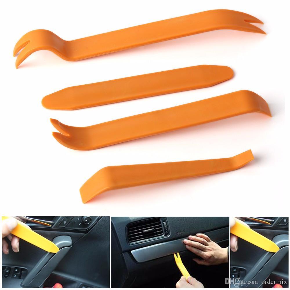 4 pezzi nuova auto interno auto audio porta clip pannello trim rimozione del cruscotto leva strumento set
