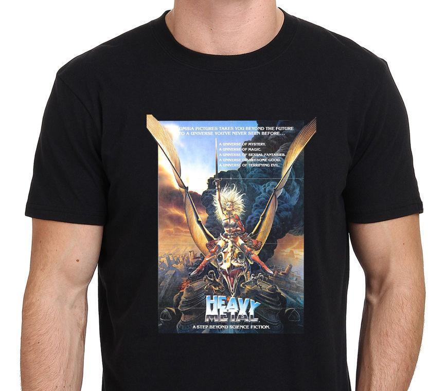d4c95db6b575 Heavy Metal Vintage Movie Poster Men S Black T Shirt Size From S 3xl 2018  New Fashion T Shirt Men Cotton Solid Color Buy Funny Shirts Interesting Tee  Shirts ...