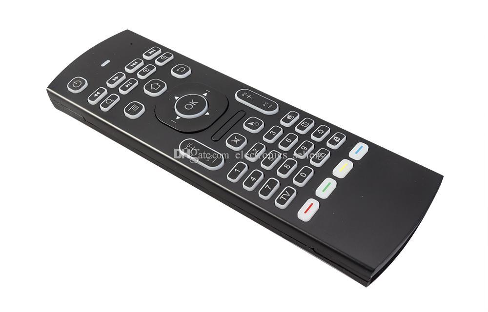 Air Mouse Retroiluminado MX3 pro com Microfone de Voz Microfone 2.4G Sem Fio Mini Teclado com Aprendizagem IR Estender o Controlador Remoto