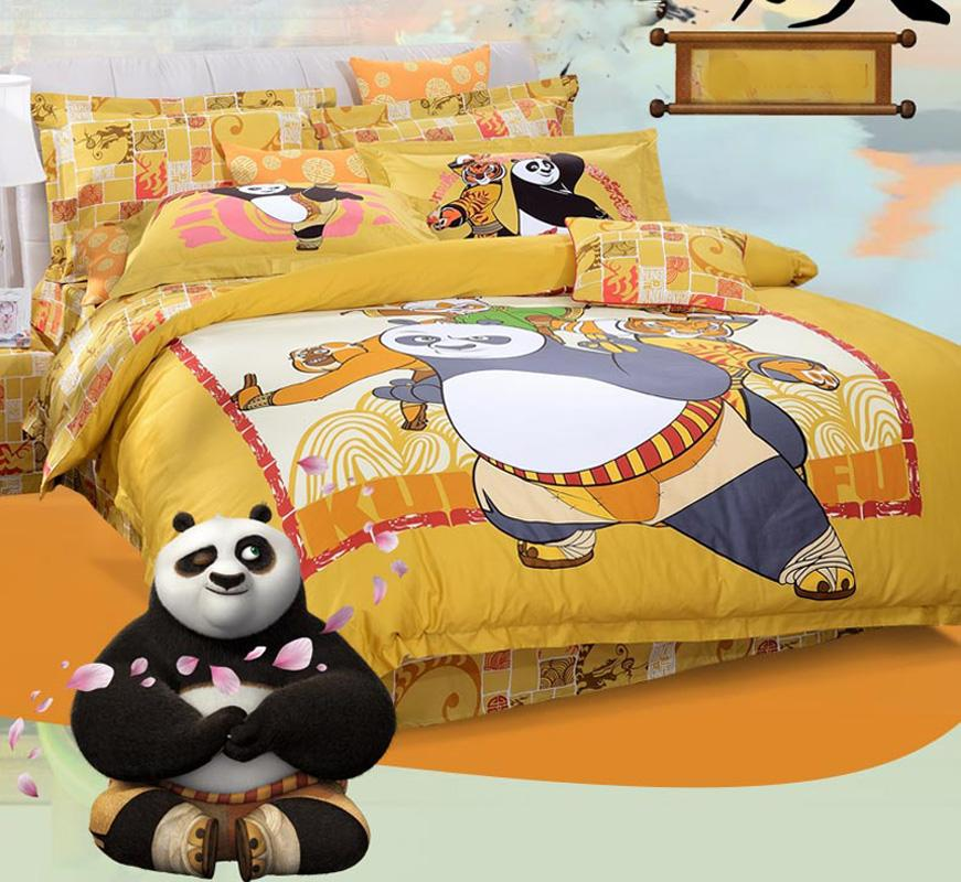 Copripiumino Kung Fu Panda.Acquista Kung Fu Panda Full Queen King 4 Pz Bella Cartoon Set Di