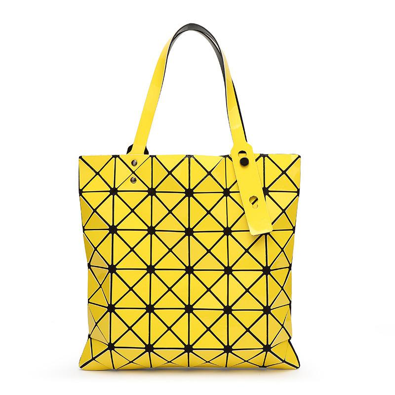 Handbag Female Folded Geometric Plaid Bag Fashion Casual Tote BAO ... d47c126777b1c